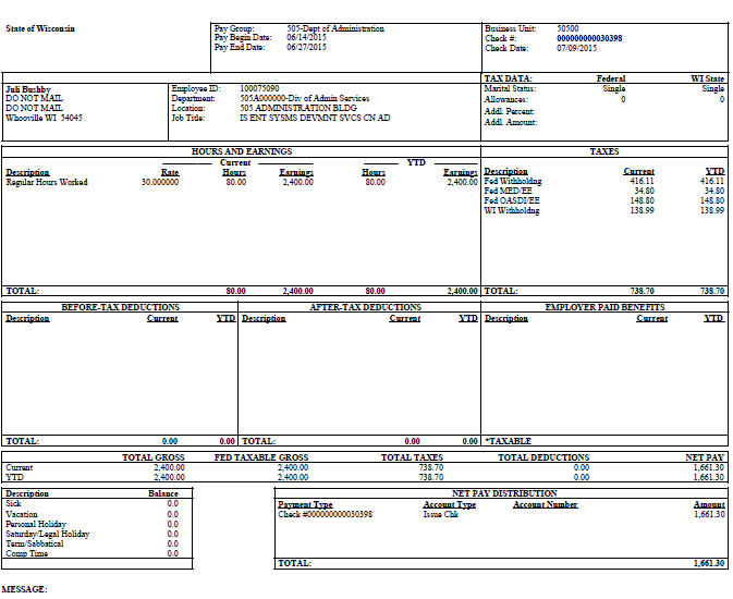 division of personnel management paycheck and direct deposit